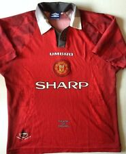 MAILLOT - JERSEY MANCHESTER UNITED SHARP / SAISON 1997 // TAILLE L