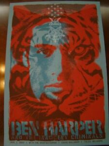 ben harper poster signed by the tuten oklahoma 2007