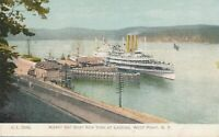 WEST POINT NY - Albany Day Boat New York at Landing Rotograph Postcard - udb