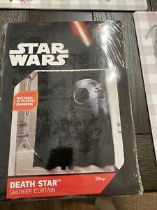 Star Wars Death Star 70x70 inch Fabric Shower Curtain w/ Hooks Bathroom Decor