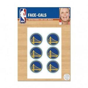 Golden State Warriors 6 Pack Tattoos Face Cals [NEW] NBA Fan Decal Sticker Party