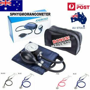 Aneroid Sphygmomanometer Arm Blood Pressure Monitor Cuff Single head Stethoscope