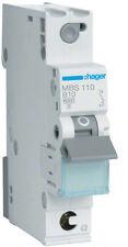 Hager MBS110 Leitungsschutzschalter 1polig 6kA B-10A QC 1M