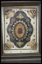 † MARY MAGDALEN + AGNUS DEI + ST FRANCIS FLEMISH RELIQUARY WOOD FRAME 5 RELICs †