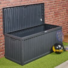 350 Litre Outdoor Storage Box Garden Patio Plastic Chest Lid Container Multibox