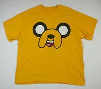 d82499a7101 Adventure Time Jake Face Orange Short Sleeve Tshirt Mens Size XL