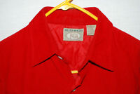 Bush Hog Mens L/S Insulated Red Corduroy Western Shirt Jacket Snaps Size M NWOT
