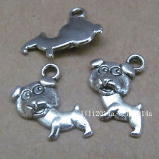 20pc Tibetan Silver Charms Beads Little Dog Animal Pendant Jewellery MakingPL446