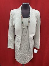 """KASPER DRESS AND JACKET/CHAMPAGNE/SIZE 16/LENGTH 39""""/LINED/RETAIL$240/NEW W TAG"""