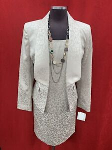 """KASPER DRESS AND JACKET/CHAMPAGNE/SIZE 14/LENGTH 39""""/LINED/RETAIL$240/NEW W TAG"""
