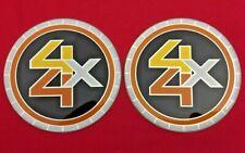 "2pcs CHEVY GMC TRUCK 5 LUG 15"" 15x8 15x7 RALLY WHEEL CENTER CAPS' EMBLEM LOGO"