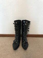 Gothic Buckle Boots(Patent Leather)- Unisex (men's size 6, women's size 8/8.5)