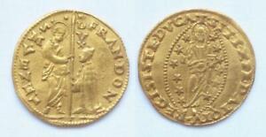 Venedig,  Franz Donà, 1545 - 1553. Zecchin o.J. St.Markus segnet knienden Dogen