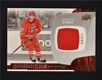 2017-18 UD Upper Deck Series 2 Rookie Materials Jersey VZ Valentin Zykov