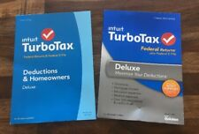 TurboTax Deluxe 2013 + 2014 Federal Returns + E-File (NO STATE) Brand New/Sealed