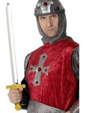 KNIGHTS SWORD MENS FANCY DRESS MEDIEVAL KNIGHT GUARDS SWORD ACCESSORY
