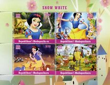 Madagascar 2018 CTO Snow White 4v M/S Disney Cartoons Stamps
