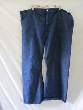 Seafarer navy blue sailor denim cotton uniform trousers pants 52 30