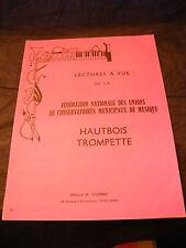 Partition Lectures à Vue Hautbois Trompette