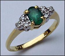 .72ct Emerald Gemstone Ring with 6 Diamonds