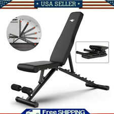 New listing Foldable Adjustable Weight Bench Sit Up Dumbbell Incline Decline Full Body Gym