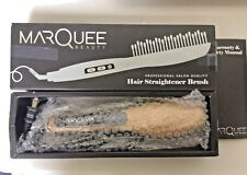 MarQuee Beauty Professional Hair Straightener Brush- 3 in 1 Best Styling Brush f