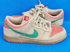 6076e28d Mens Nike Dunk 6.0 Hemp Rasta Size 9.5 Green Red Skateboard Shoes 314142-200