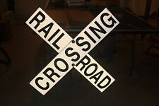 Black Cross Buck Railroad Crossing Sign  18 inchs by 3 inchs