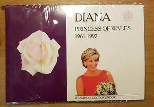 Diana Princess of Wales Stamp Collector's Book ALL stamps and hinges. MINT