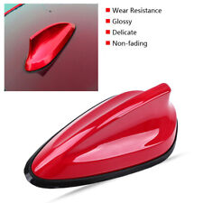Red Car SUV Shark Shape Fin Antenna FM/AM Signal Aerial Waterproof Rubber Base
