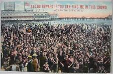 1900's~$10.00 Reward Find Me In Crowd~Atlantic City, NJ
