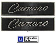 1968-1969 Camaro Standard Door Panel Emblems **Pair** NEW GM Licensed Product