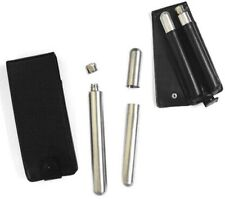 TUBE FLASK AND CIGAR HOLDER COMBO hip stainless steel pouch novelty flasks  NEW
