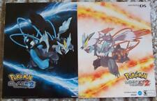 POKEMON BLACK and WHITE 2 -  Original Video Game Poster MINT Comic Con SDCC 2012