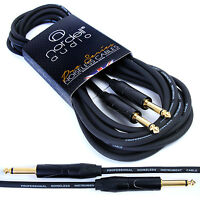 Pro Guitar Lead Cable for Electric Electro-Acoustic  Bass Lifetime Warranty