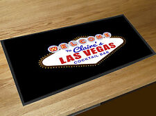 Personalised with your name Las Vegas Cocktail bar runner home bar counter mat