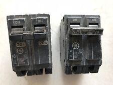 Two (2) 20 Amp 2-Pole 10kA Circuit Breakers Ge Rt-690, used
