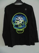 GAP Long Sleeve Black Skull Bats Shirt - Size Medium (Age 8)