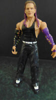 WWE action figure Jeff Hardy Hardy Boyz PURPLE HAIR GREAT SCULPT  loose