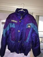 Vtg SUGAR BOWL Phenix Mountain Host 1990s Jacket Sleeves Comes Off Big Logo Ski