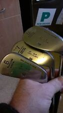 Vintage Lot of 3 Rare Tom Wilson Dot Faced Coated Shaft Forged Irons vgc