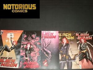 Web of Black Widow 1-5 Complete Comic Lot Run Set Marvel Houser Collection