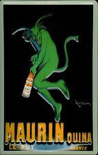 Chapa escudo Maurin quina le puy france verde diablo retro escudo werbeschild