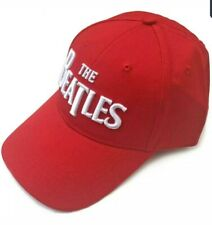 The Beatles Unisex Baseball Cap: White Drop T Logo (Red) official licensed merch