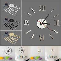DIY Arte 3D Moderno Reloj De Pared Sin Marco Decoración habitación salón casa
