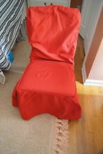 Red Cotton Dining Room Chair Cover