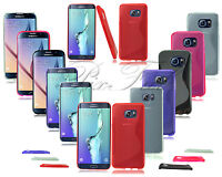 For Samsung Galaxy S7 Edge G935 G930 New Gel Silicone Phone Case + Screen Guard