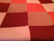 Pink Big Crocheted Granny Squares Blanket Quilt