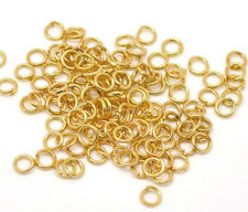 250 Binderinge 8mm Ösen GOLD Metall Ring Verbinder Spaltringe BEST SF18