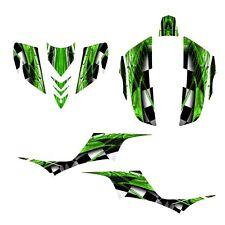 KFX700 KFX 700 Kawasaki graphics quad sticker kit NO2001 green
